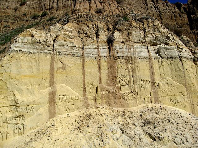 San Onofre Cliff Graffiti (1304)