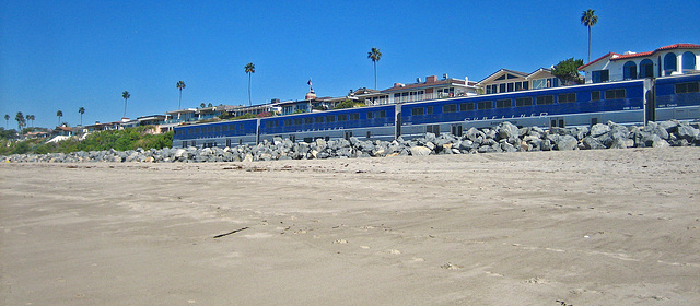 Amtrak on San Clemente Beach (9192)