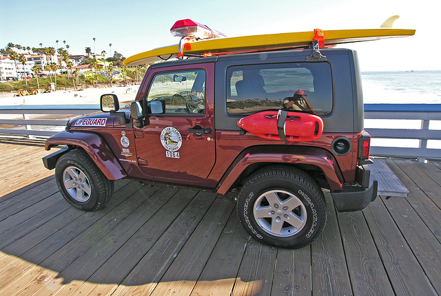 San Clemente Lifeguard Jeep (7039)