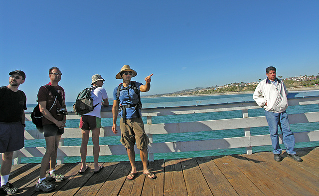 Ky Guides Us On The San Clemente Pier (7050)