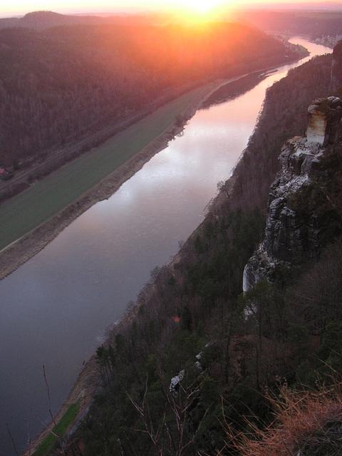 Sonnenuntergang auf der Bastei