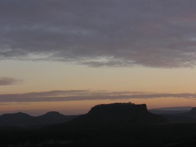 Sonneneuntergang auf der Bastei