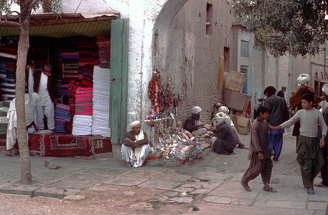 Scene near the Bazaar of Herat