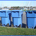 Recyclons en bleu  - Let's recycle in blue -  ECO-BLUE !!   Hometown / Dans ma ville- 12 octobre 2008.