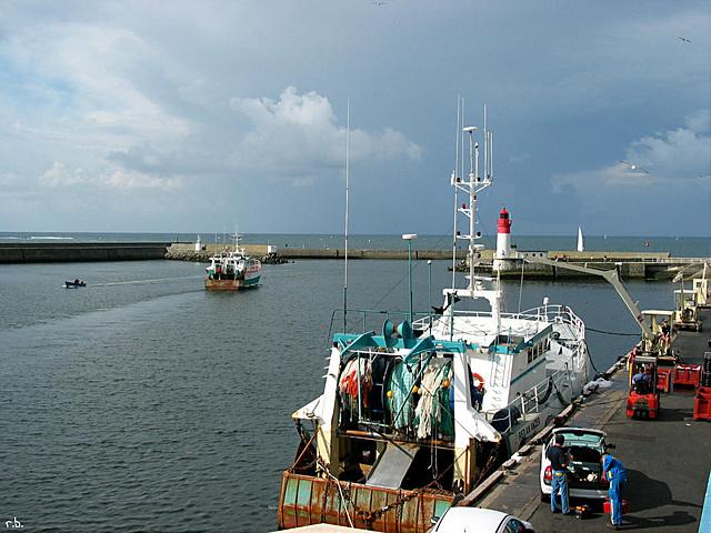 Fischkutter im Hafen von Le Guilvinec  - Bretagne