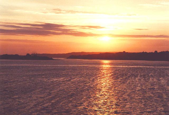 coucher de soleil,Chiloé
