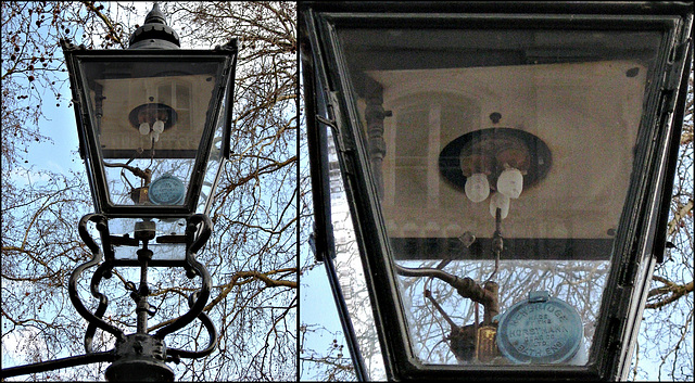 Gas lamp and detail