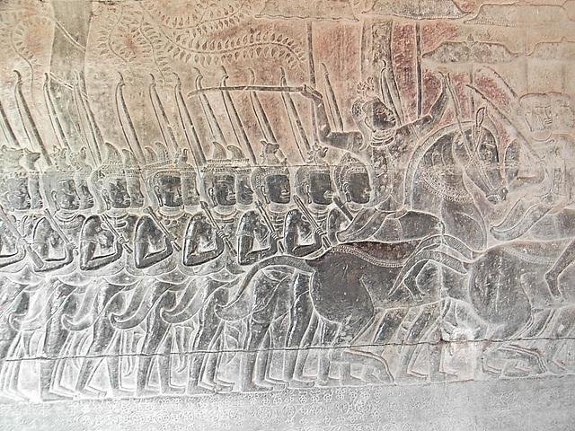 temple d' Ankor vat, les armées