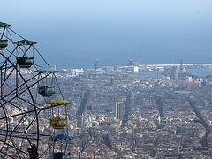 Riesenrad über Barcelona
