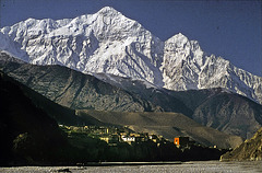 Kagbeni view from Lo Mantang