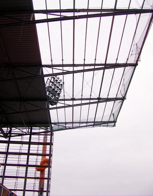 Dachkonstruktion Südkurve