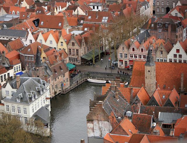 Bruges du haut du Beffroi