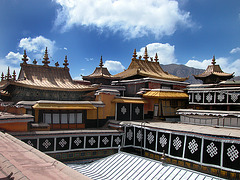 At the rooftop of the Potala Palace