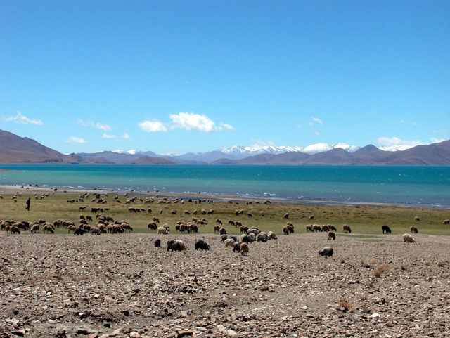 Phurma Yutso lake on the way to Gyantse