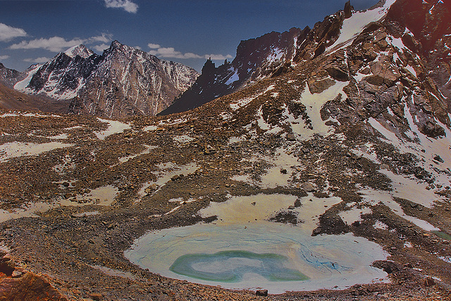 Gauri Kund lake at the Drolma La pass
