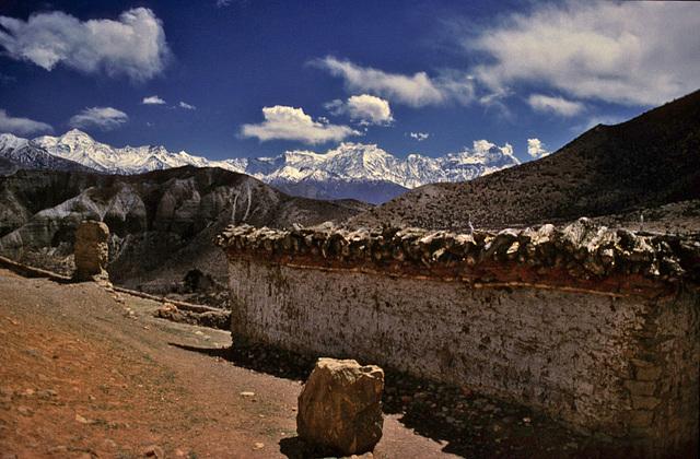 Mani wall in Geling