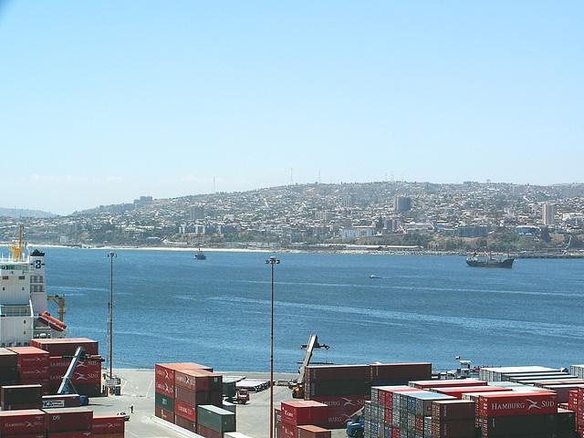 Valparaiso, vu du  port