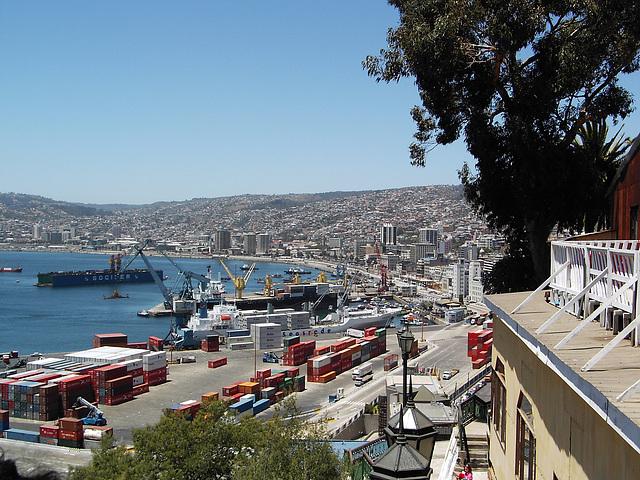 Valparaiso, vu sur le port