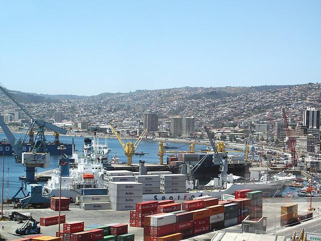 Valparaiso, vu sur le port 3