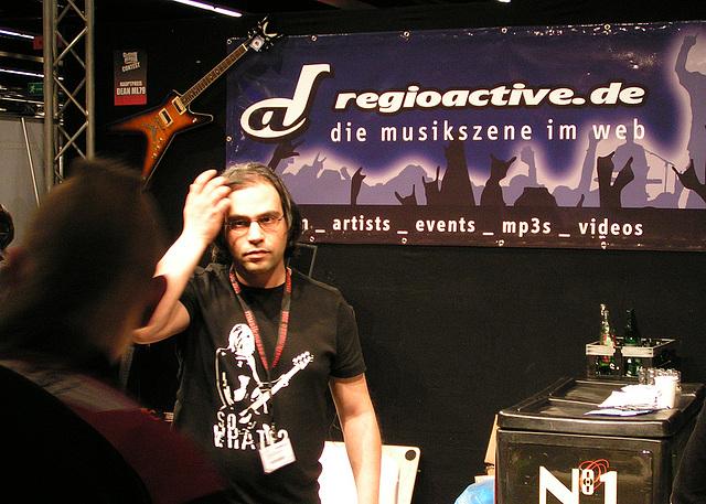 Musikmesse 08 - regioactive.de-Stand