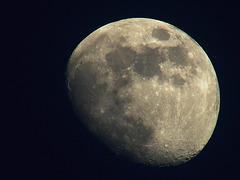Zunehmender Mond (waxing moon) am 17.02.08