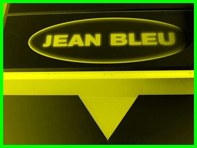 Jean Bleu jaunie et bidouillée - Dans ma ville / Hometown - 12 octobre 2008.
