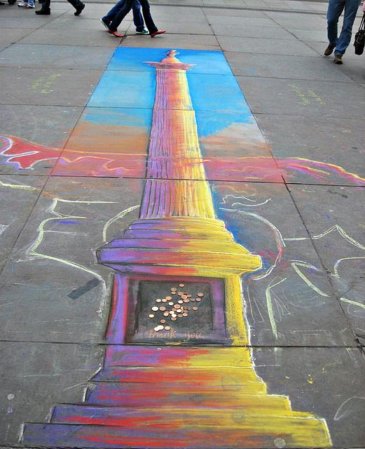 Nelson as pavement art