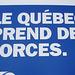 Le Québec qui faiblit en bleu capitaliste / Weaking Quebec in capitalist blue