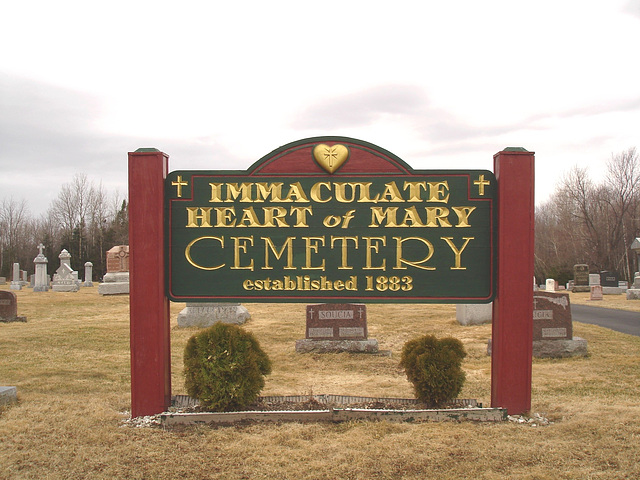 Immaculate heart of Mary cemetery - Churubusco. NY. USA.  March  29th 2009