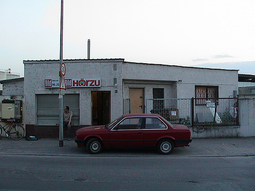 Kiosk Club in der Intzestrasse. Um 2002.