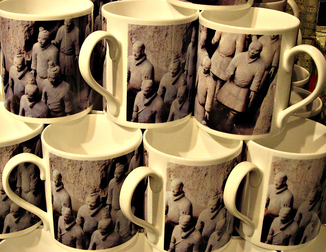 Terracotta army cups