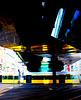 tram under the bridge