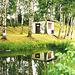 Spegulado en lago en Aga