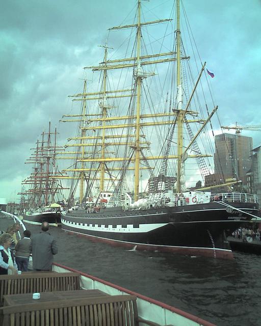 """Krusenstern - ehemalige PADUA (Passat / Pamir Schwesternschiff) - """"P-Liner"""" auf dem Hamburger Hafengeburtstag 2007 / 070513-150816"""