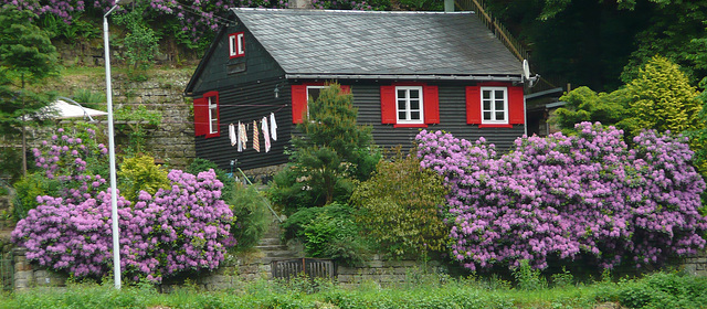 Holzhaus bei Schmilka