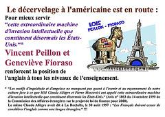 Vincent Peillon, Geneviève Fioraso, anglais