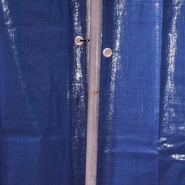 longline blue curtain