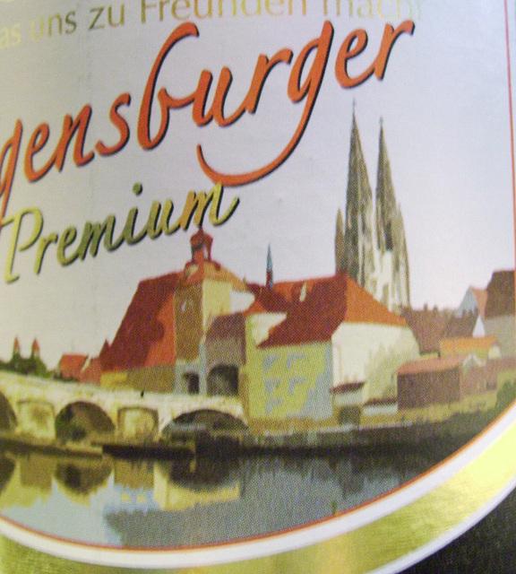 beerbottle view of regensburg