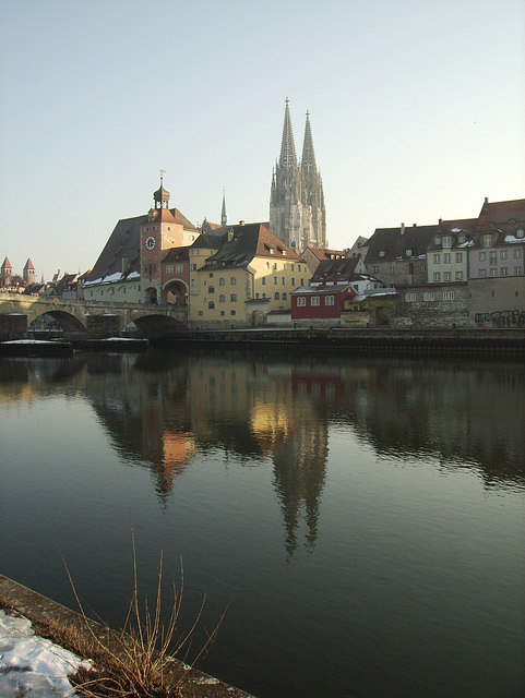 the postcard view of regensburg