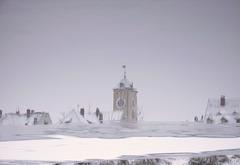 rathausturm im wasser