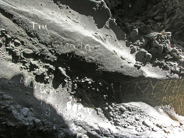 Graffiti in Camp at Old Quarry (7158)