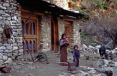 In front of the Yak herders hut