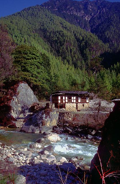 Farmhouse at the Paro riverside