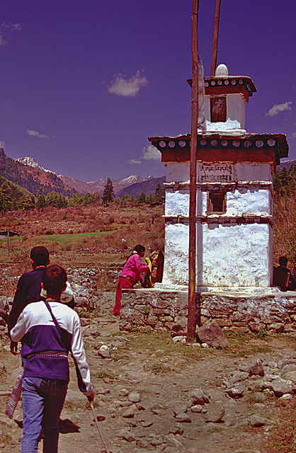 Passing the Chorten in the clockwise direction