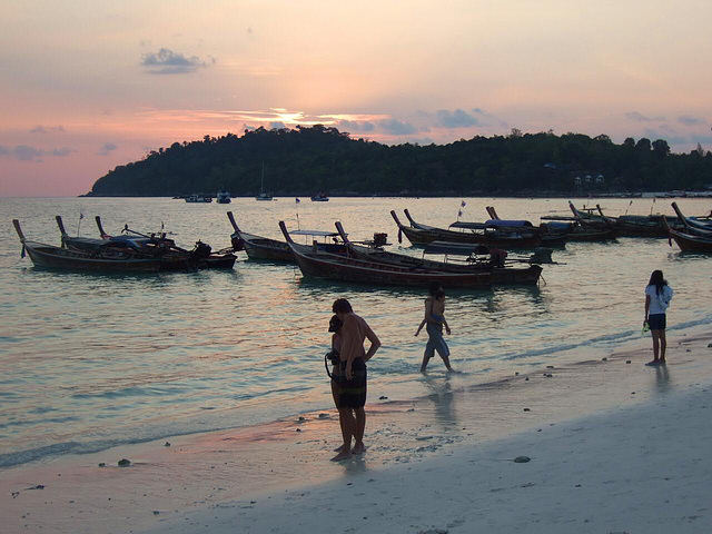Sunset at Ko Lipe Island Pattaya Beach