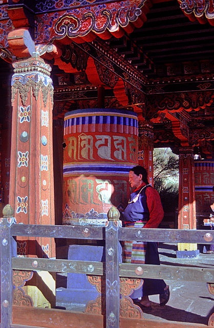 Spin the prayer wheel