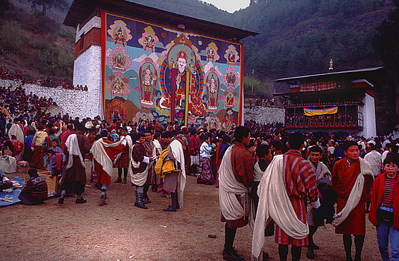 Thanka enrolled at the Paro Tsechu