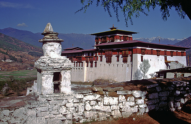 The Paro Dzong from northern side