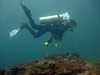 Diving in the depth of 40 meters