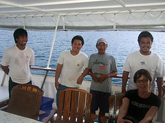 Ritta and the boats crew